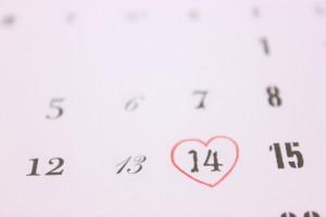 バレンタインデーのカレンダー