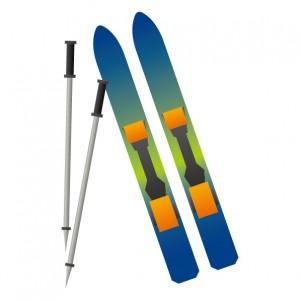 スキー板のイラスト