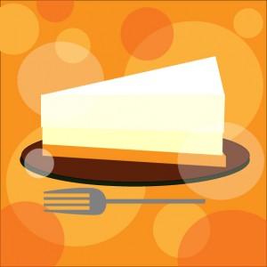 レアチーズケーキのイラスト