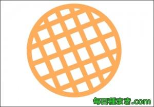 アップルパイを上から見た図