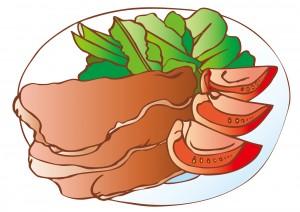 豚肉のしょうが焼きのイラスト